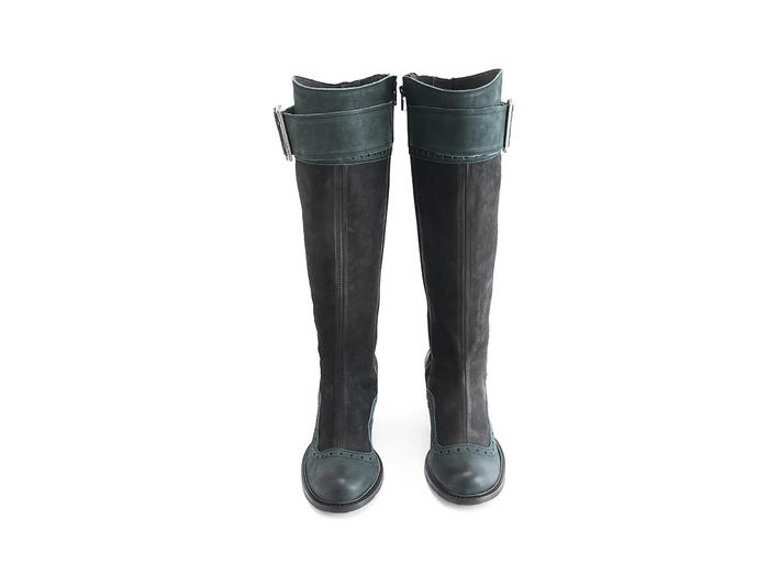Sainsbury Peacock Knee high boot with brogueing
