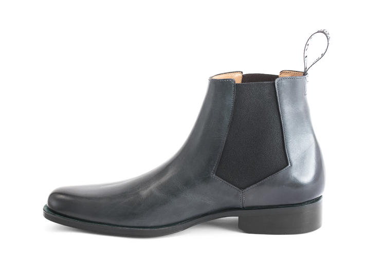 1224 Stark St Grey Leather chelsea boot