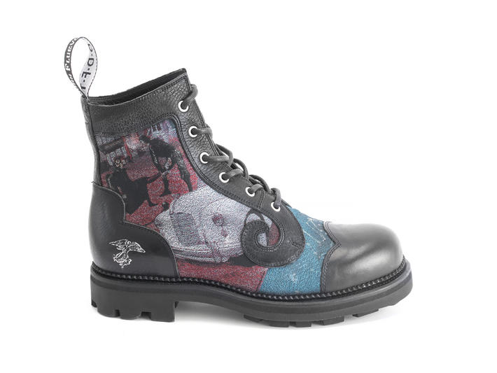 Derby Swirl (6 Eye) JF Tapestry Classic Derby Boot