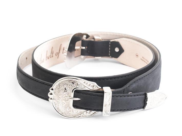 Adelaide Black Double buckle belt