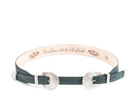 Adelaide Peacock Double buckle belt
