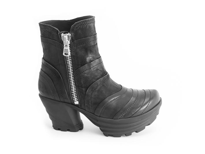 Mento Black Platform ankle boot