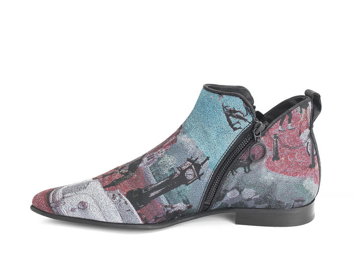 Smith JF Tapestry Double zip ankle boot
