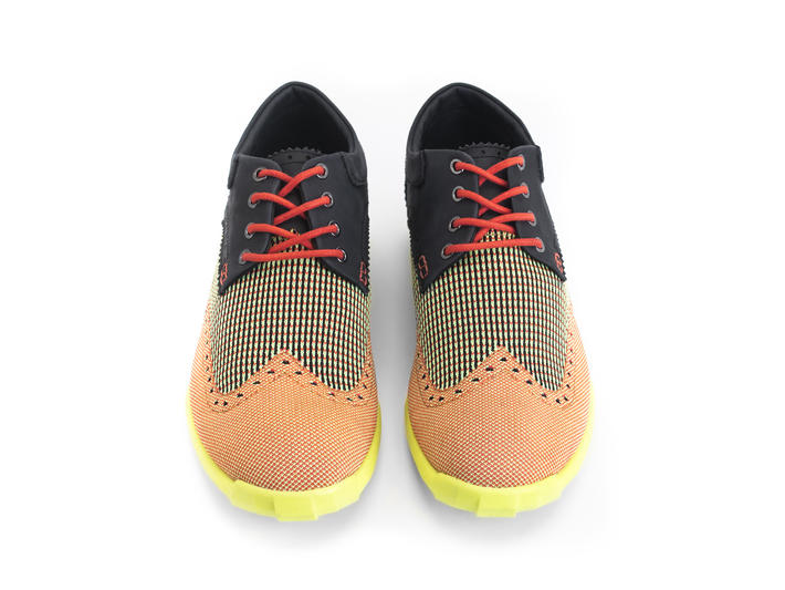 Orbit Yellow/Orange/Black Brogued Wingtip Derby
