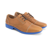 Breton Orange Leather derby shoe