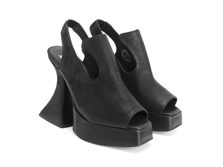 Lady Miss Black Platform slingback heel