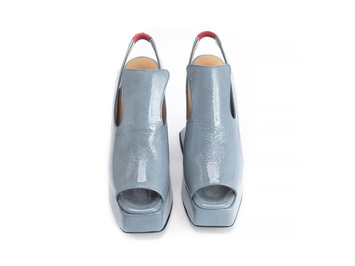 Lady Miss Blue Platform slingback heel