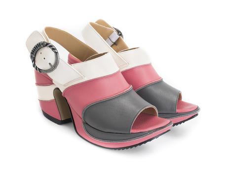 Advisor Pink/Grey Platform slingback heel