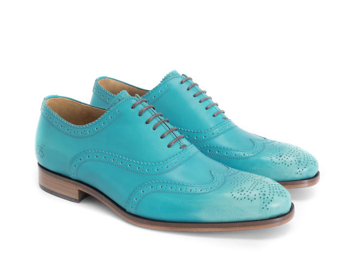 Amatrice Turquoise Brogued wingtip oxford