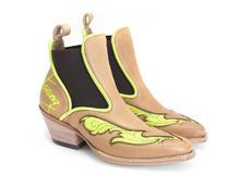 Estrelita Natural Western chelsea boot