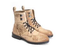 Blake Natural/Tattoo Casual Lace-up Boot