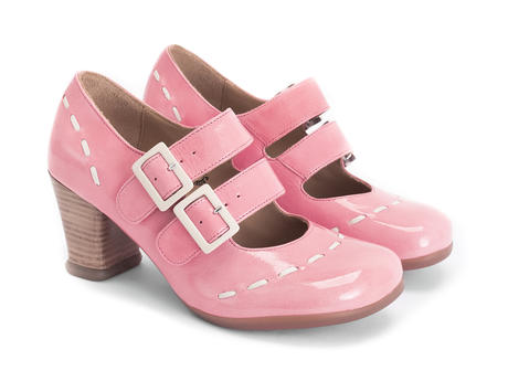 Cavalieri Pink Double strap mary jane
