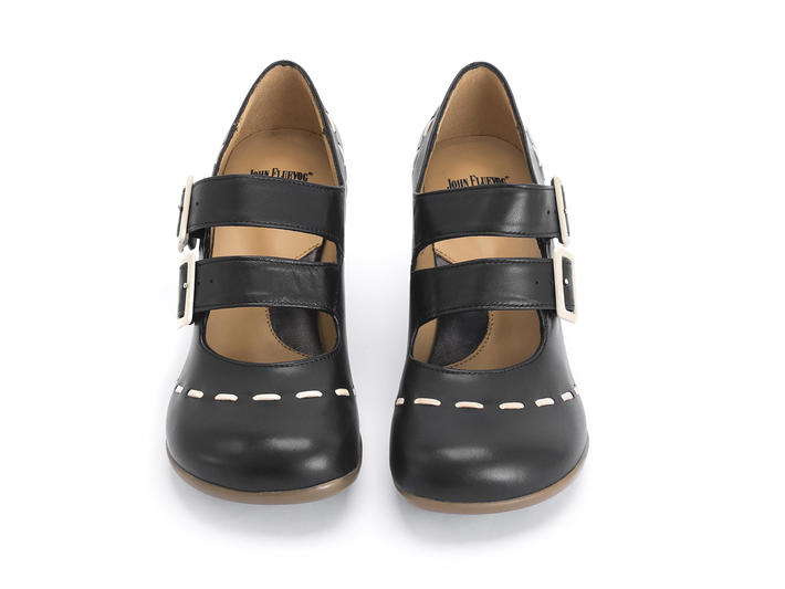Cavalieri Black Double strap mary jane