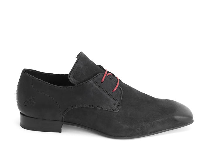 Prysten: Men's Black Square toe lace-up shoe
