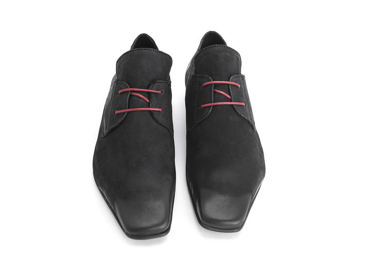 Prysten: Women's Black Square toe lace-up shoe