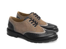 Nathaniel Black/Brown Double wing-tip derby