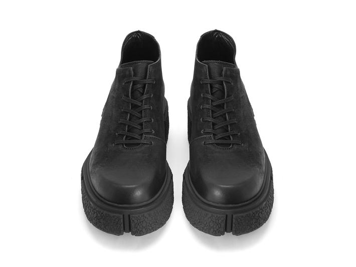 De Vico: Men's Black Platform lace-up shoe
