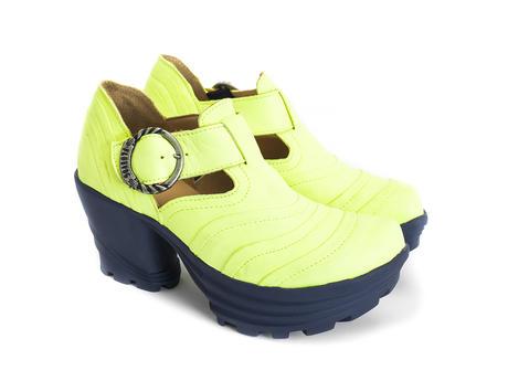 Bossa Nova Neon Yellow Neon platform shoe