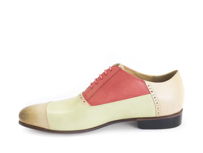 Duston Mint/Peach Asymmetric oxford