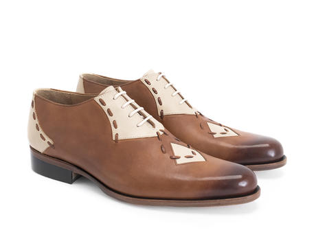 Heiligeweg 37 Brown Contrast oxford with stitching