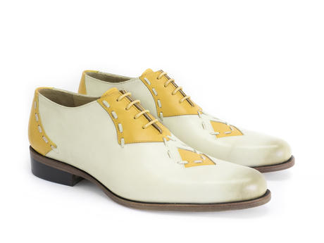 Heiligeweg 37 Bone Contrast oxford with stitching