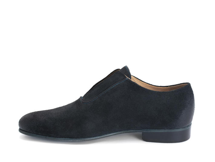 Kingsley Black Lace-less oxford