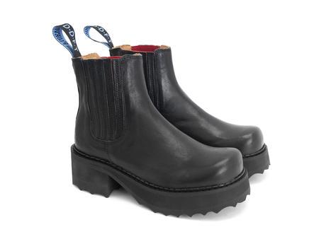 Audra Black Platform chelsea boot
