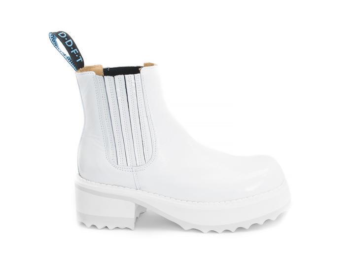 Audra White Platform chelsea boot