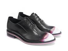Honorius: Men's Rose/Noir Élégant richelieu à bout golf