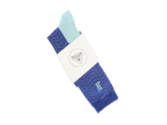 Higgins Vog Socks Blue Herringbone sock