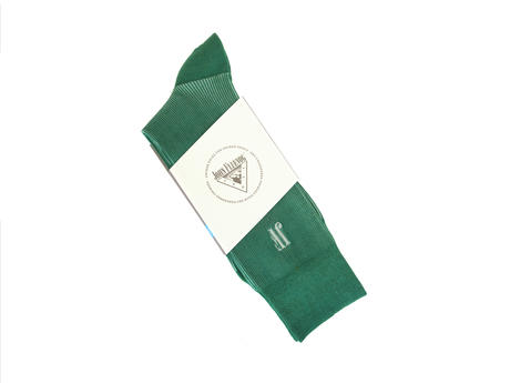 Megs Vog Socks Green Ribbed sock