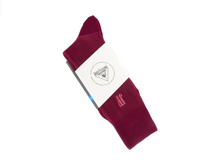 Megs Vog Socks Red/Pink Ribbed sock