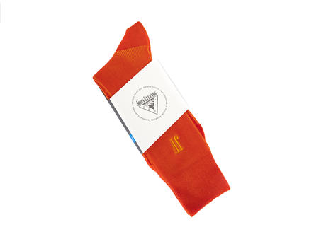 Megs Vog Socks Orange Ribbed sock