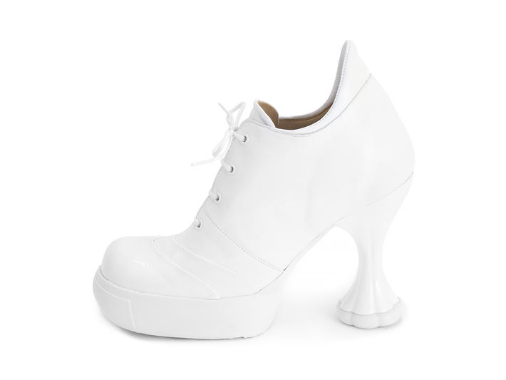 Sova Sundae White Heeled platform lace-up