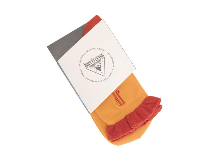Louie Vog Socks Orange Frilled sock