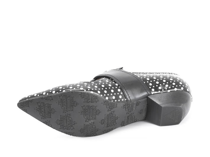 Pilgrim Black dots Buckled Victorian loafer