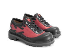 Flame Black/Red Flaming derby lace-up