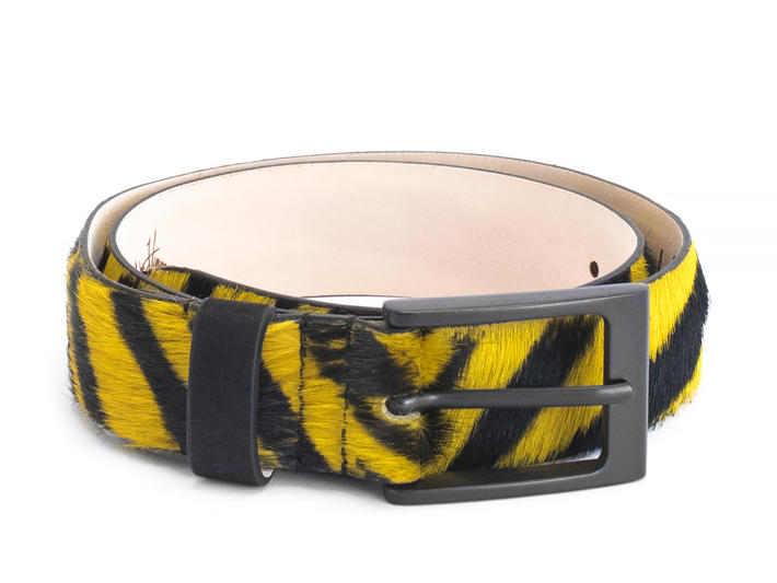 Godfrey Yellow Tiger Patterned belt