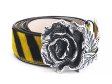 Rohesia Yellow Tiger Waist belt with rose
