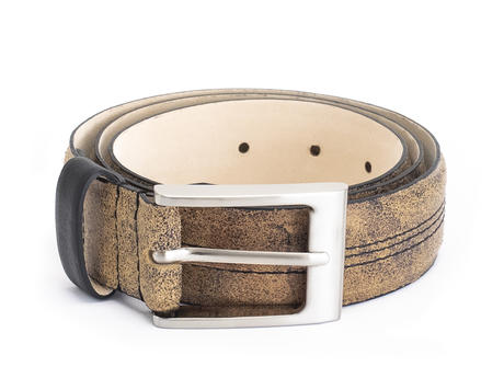 Godfrey Tan/Black Patterned belt