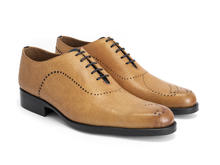 61 William St Tan Simple brogued oxford