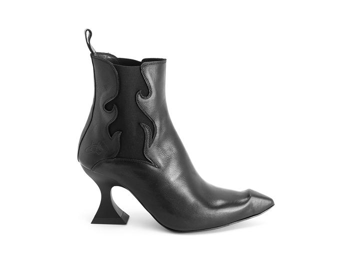 Aspasia Black Flamed chelsea boot