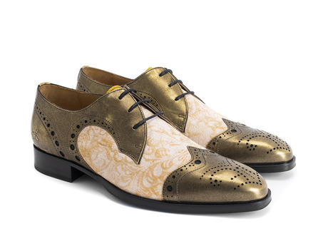 Duke Gold Brogued wingtip derby