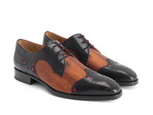 Duke Black/Copper Derby brogue à bout golf