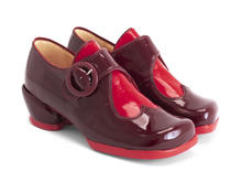 Tori Burgundy/Red Adorable buckle shoe