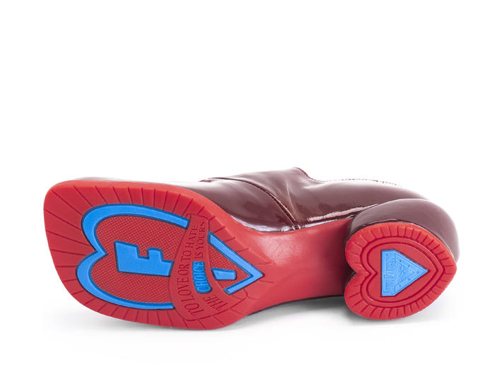 Tori Burgundy/Red Adorable buckle shoe