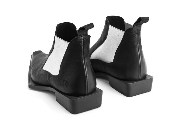 Matlock Black/Silver Wicked chelsea boot