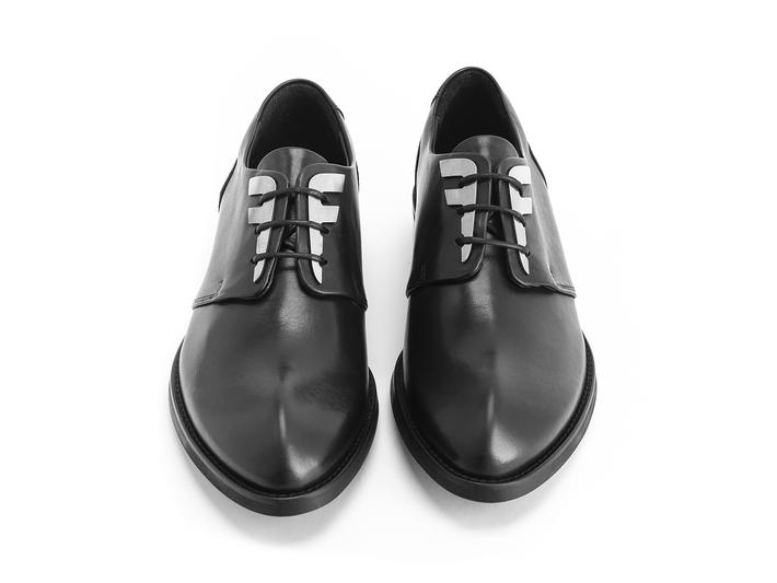 Otho: Men's Black Derby shoe with custom hardware