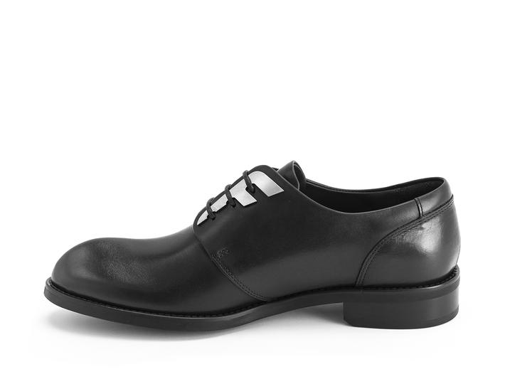 Otho: Women's Black Derby shoe with custom hardware