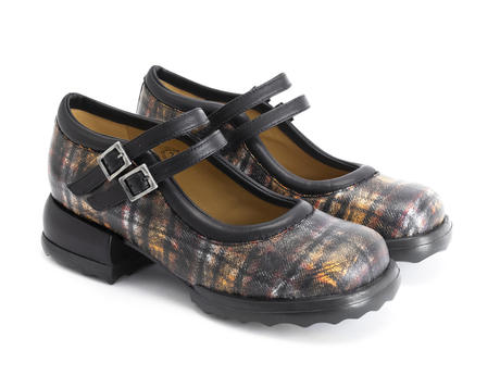 Aimee Plaid Solid mary jane